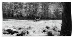 Bath Towel featuring the photograph Winter Dreary Square by Bill Wakeley