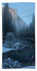 Winter El Cap  Hand Towel