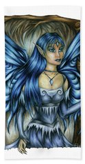 Winter Fairy Drawing Bath Towel