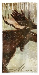Winter Game Moose Bath Towel