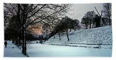Bath Towel featuring the photograph Winter Glow - 365-286 by Inge Riis McDonald