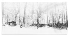 Snowy Forest - North Carolina Hand Towel