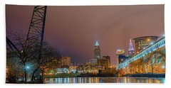 Winter In Cleveland, Ohio  Bath Towel