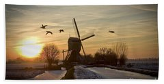 Winter In Holland-2 Hand Towel