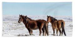 Winter In Sand Wash Basin - Wild Mustangs Bath Towel