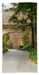Bath Towel featuring the photograph Winter In The Garden by Robin Regan
