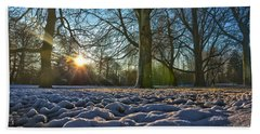 Winter In The Park Bath Towel