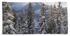 Winter In The Wasatch Bath Towel