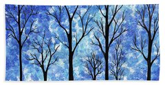 Winter In The Woods Abstract Bath Towel
