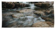 Winter Inthe Falls Bath Towel by Iris Greenwell