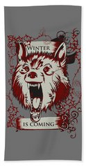 Winter Is Coming Bath Towel