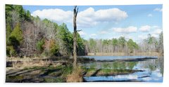 Hand Towel featuring the photograph Winter Lake View by George Randy Bass