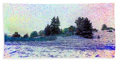 Winter Landscape 2 In Abstract Hand Towel