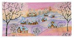 Winter Landscape, Painting Bath Towel