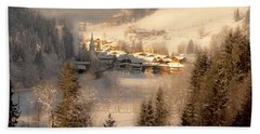 Winter Landscape Salzburger Land Bath Towel