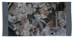 Winter Leaf Abstract-i Bath Towel