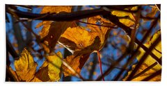 Winter Leaf Hand Towel by Derek Dean