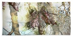 Winter Leaves Hand Towel by Pennie  McCracken