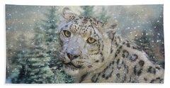 Winter Leopard Hand Towel by Jai Johnson
