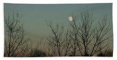 Hand Towel featuring the photograph Winter Moon by Ana V Ramirez