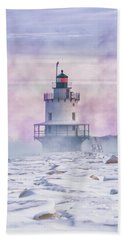 Winter Morning At Spring Point Ledge Hand Towel
