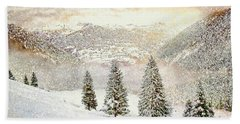 Winter Morning Hand Towel by Kai Saarto