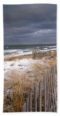 Winter On Cape Cod Sandy Neck Beach Bath Towel