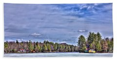 Hand Towel featuring the photograph Winter On The Pond by David Patterson