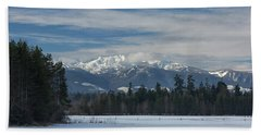 Hand Towel featuring the photograph Winter by Randy Hall