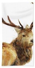 Winter Red Deer Hand Towel