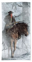 Winter Rider Hand Towel