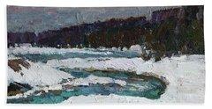 Winter River Hand Towel