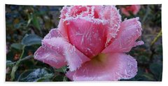 Winter Rose Bath Towel