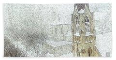 Winter Scene A La Van Gogh Hand Towel by Yvonne Wright