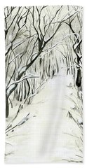 Winter Scene Hand Towel