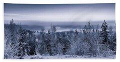 Winter Scenery Of The Lake Hiidenvesi Bw Bath Towel
