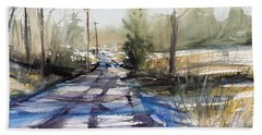 Winter Shadows  Hand Towel by Judith Levins