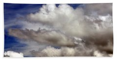 Winter Snow Clouds Bath Towel