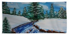 Winter Stream Bath Towel