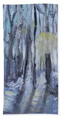 Hand Towel featuring the painting Winter Sun by Robin Maria Pedrero