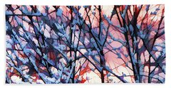 Winter Sunrise Hand Towel by Betsy Zimmerli