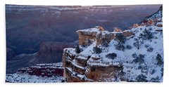 Winter Sunrise - Mather Point Grand Canyon Bath Towel