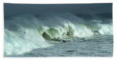 Winter Surf On Monterey Bay Bath Towel