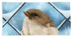 Hand Towel featuring the painting Winter Sweetness  by Veronica Minozzi