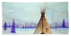 Winter Tepee Bath Towel