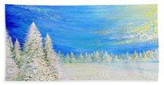 Bath Towel featuring the painting Winter by Teresa Wegrzyn