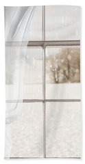 Winter Through A Window Hand Towel