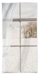 Winter Through A Window Bath Towel