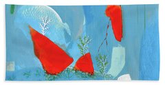 Winter Thunder Hand Towel by Donna Blackhall