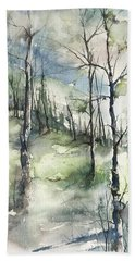 Winter To Spring Bath Towel by Robin Miller-Bookhout